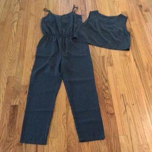 Jumpsuit romper gray size medium worn once